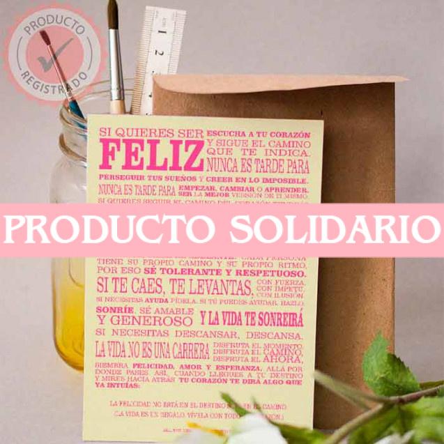 Manifiesto All The Hearts con Fondo Amarillo y Tipografía Rosa Chicle en tamaño A5, Idioma Español