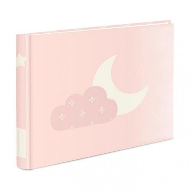 Albúm de fotografías horizontal, little moon liso en color rosa