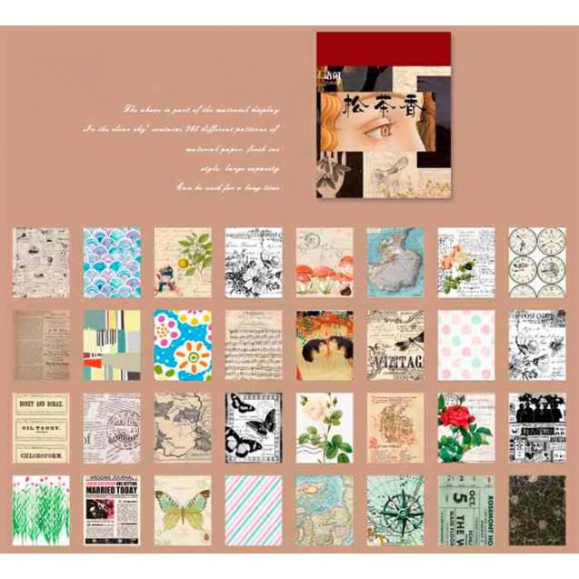 Mini block con 365 hojas de estilo vintage en papel cebolla, modelo 1