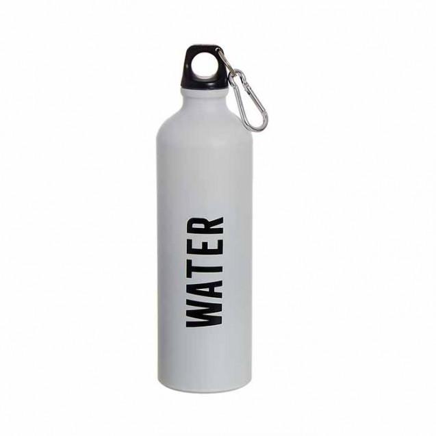Botella de aluminio water color blanco, 750ml