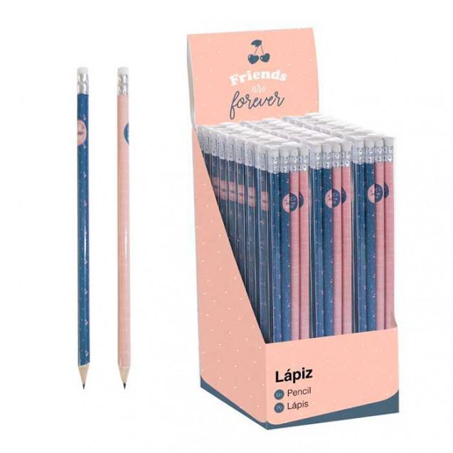 Lápices friends are forever pack de 8 unidades (4 de cada color)