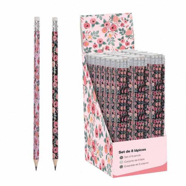 Lápices rose pack de 8 unidades (4 de cada color)